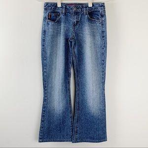 Mudd Flare Leg Stonewash Jeans Size 7 Juniors